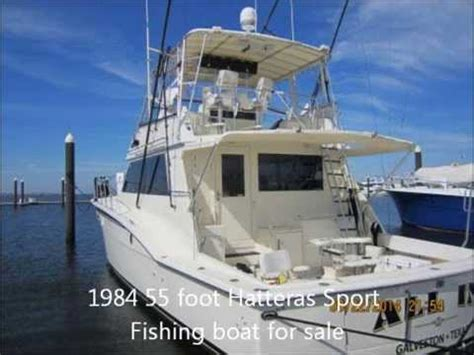 Fishing Boat Charter For Sale by 1984 Fifty Five Foot Hatteras Activity Fishing Boat For