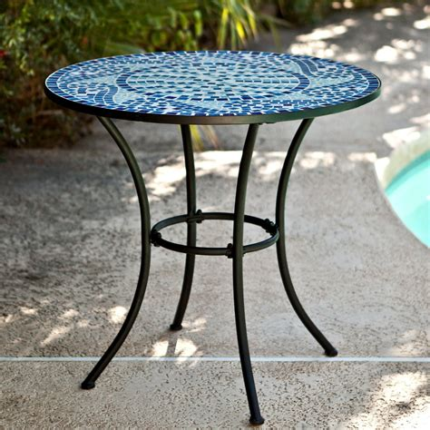 Mosaic Tile Outdoor Table by Bistro Set Patio Table Chairs Mosaic Tile Garden Deck