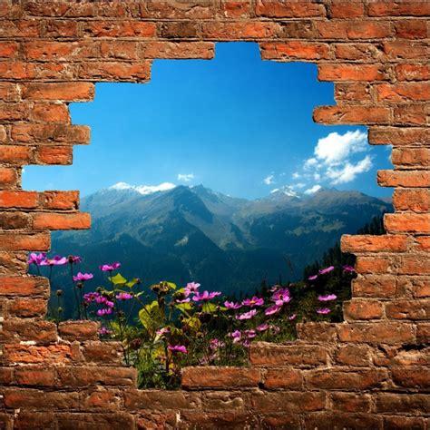 stickers muraux paysage trompe l oeil sticker mural trompe l oeil paysage stickers autocollants
