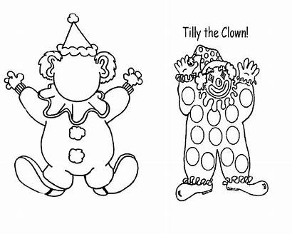 Clown Coloring Killer Pages Printable Tilly Drawing
