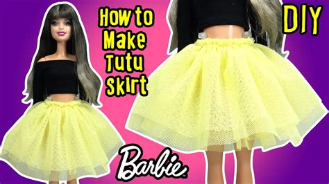 how to make doll clothes diy how to make barbie doll tutu skirt doll clothes tutorial making kids toys youtube