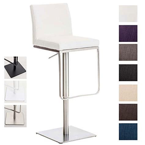 clp tabouret de bar panama en tissu hauteur r 233 glable 58 82 cm pivotant chaise haute avec
