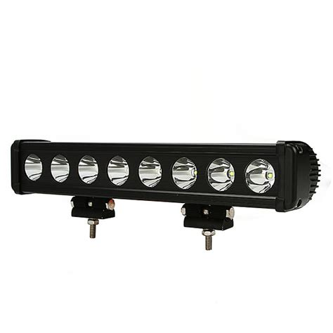 big cree single row led light bar 15 inch 80 watt spot