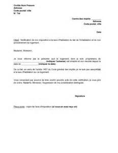 Paiement Taxe Habitation Location Meublée by Lettre De Notification De L Inoccupation Et Du Non