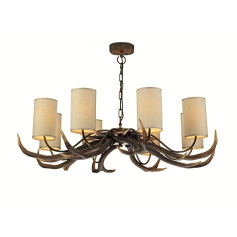 large rustic antler chandelier ceiling light with stag
