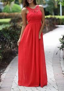Eng Anliegende Kleider : rot festliche abendkleid lang r ckenfreies patchwork spitze gefaltetes ausschnitte maxi kleid ~ Frokenaadalensverden.com Haus und Dekorationen