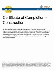 6 best images of construction project completion letter With certificate template for project completion