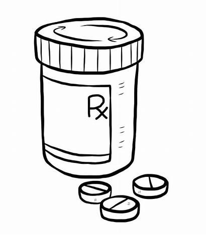 Pill Bottle Drawing Prednisone Medication Medicine Medical