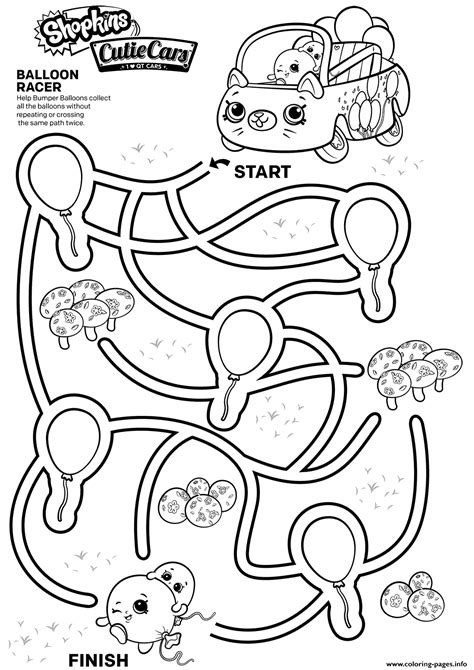 easy shopkins maze  kids coloring pages printable