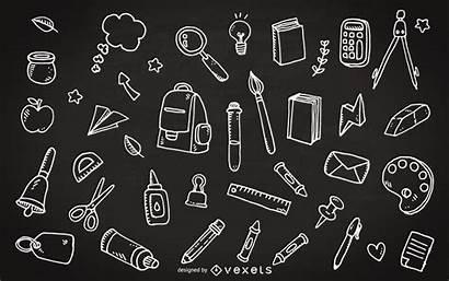 Chalkboard Doodles Escolar Quadro Material Doodle Supplies
