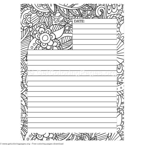 Coloring Journal by 4 Journal Page Coloring Pages Getcoloringpages Org