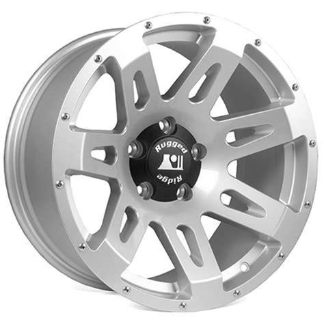 rugged ridge wheels rugged ridge aluminum wheel silver 18x9 07 14 jeep