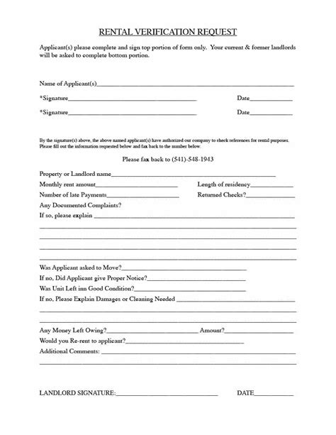 rental forms for landlords 29 rental verification forms for landlord or tenant