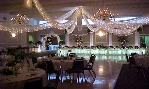 outdoor christmas decorations wedding reception