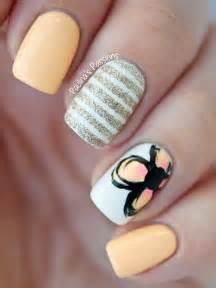 Spring nails summer nail art glitter manicure