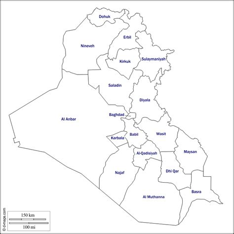 Iraq Free Map Free Blank Map Free Outline Map Free Base