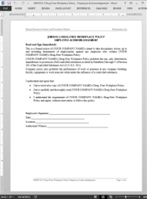 drug  workplace acknowledgement template emh