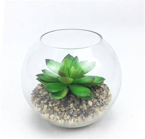 สวนโหลแก้ว กุหลาบหินปลอมในโหลแก้วใส สำหรับวางประดับตกแต่ง