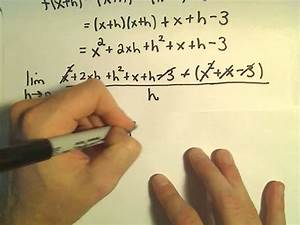 Derivative Using The Definition  Example 2