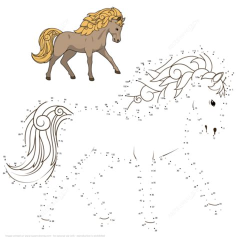 wild horse dot  dot  printable coloring pages