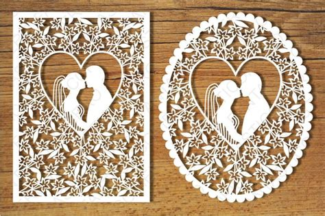 wedding cards svg files  silhouette cameo  cricut  fantasticopiero thehungryjpegcom