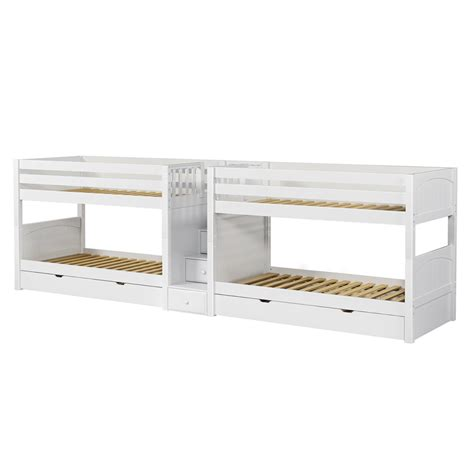 bunk beds maxtrix wonderful mega low bunk bed with stairs