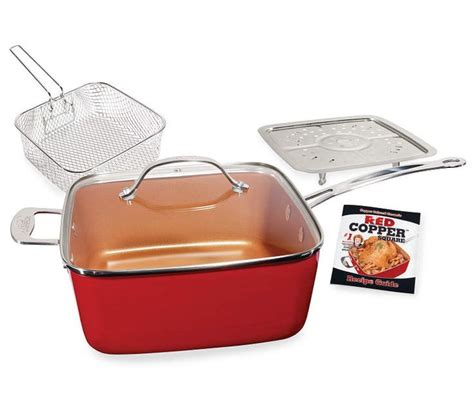 red copper square pan  piece set red copper square pan copper cookware set copper cooking pan