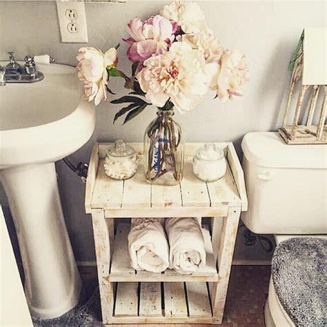shabby chic wood pallet bathroom shelves home decor