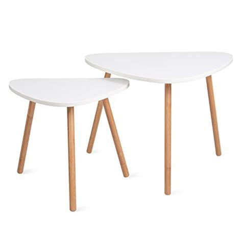 Homfa Nesting Coffee End Tables Modern Furniture Decor