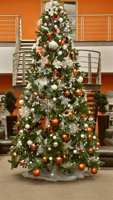 christmas tree  designed  harley davidson orange