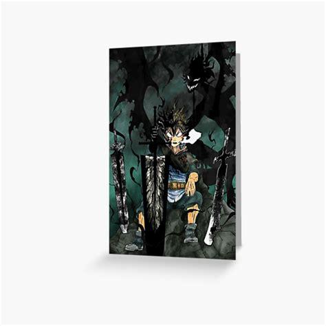 black clover yami sukehiro greeting card by terpres
