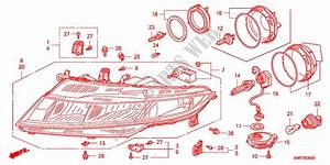 Headlight For Honda Cars Civic 1 8 Base 3 Doors