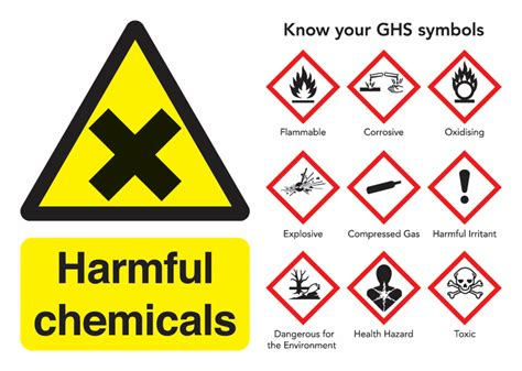 harmful chemicals guidance safety signs seton