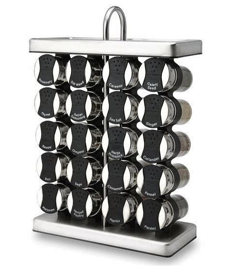 Thompson Spice Rack by Olde Thompson 20 Jar Stainless Steel Traditional Spice