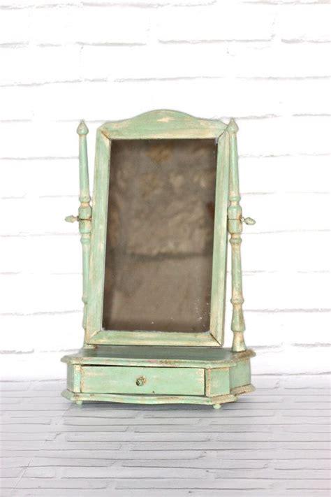 Distressed Bathroom Vanity Mirror by Vintage Green Distressed Wood Vanity Mirror