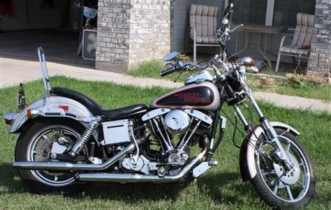 1979 Harley-davidson® Fxs-80 Low Rider® 80 (black And Gray