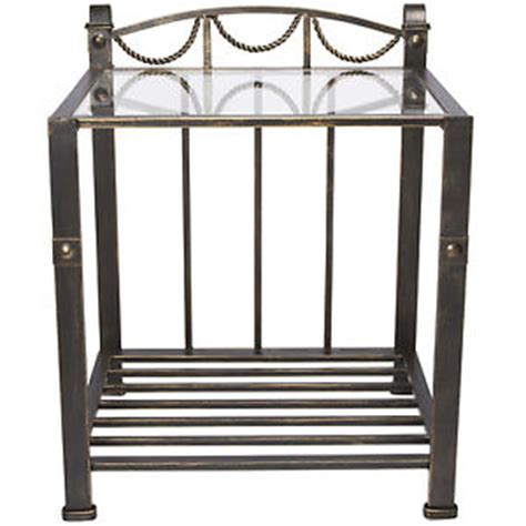 metal and glass nightstand brass traditional glass table top iron metal stand
