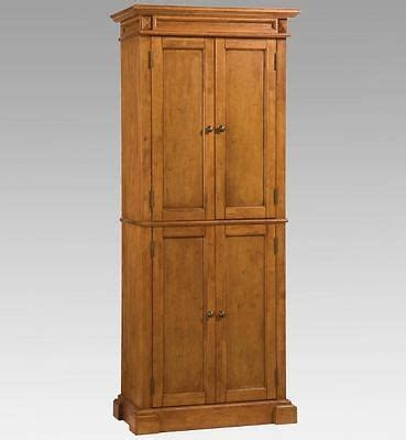 kitchen pantry storage cabinet solid wood cottage oak
