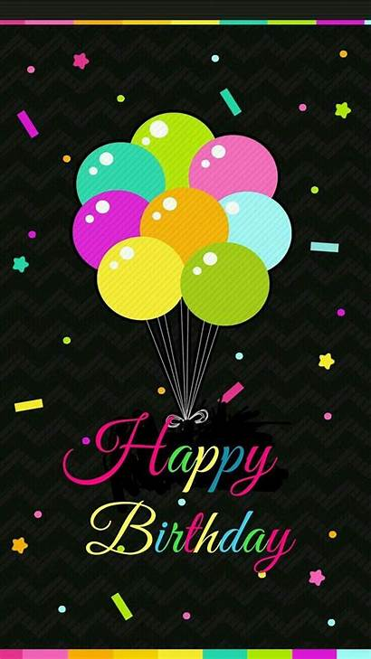 Birthday Happy Balloons Colorful Backgrounds Wallpapers Quotes