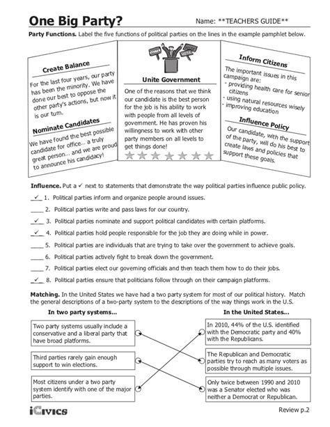 Icivics Worksheets  Kidz Activities