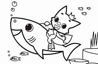 Shark Coloring Pinkfong Doo Hooray Mommy Hunt