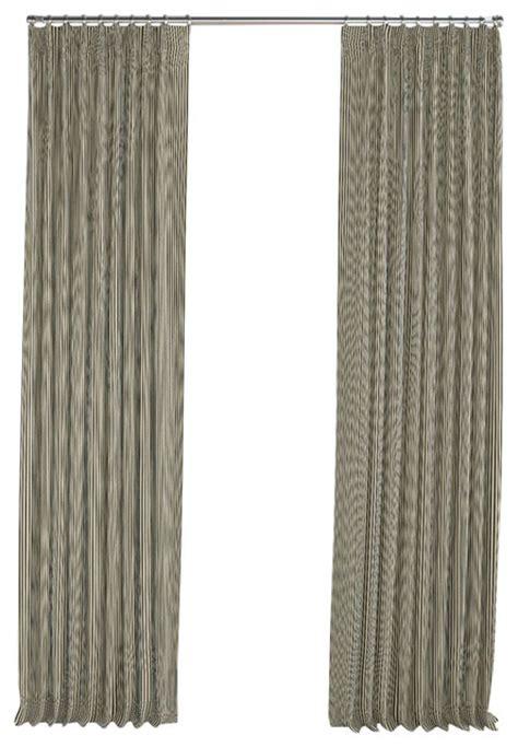 black ticking stripe pleated curtain single panel