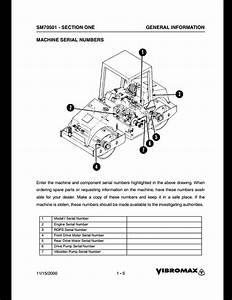 Vibromax 752 Tandem Drum Roller Service Repair Workshop Manual Sm70501