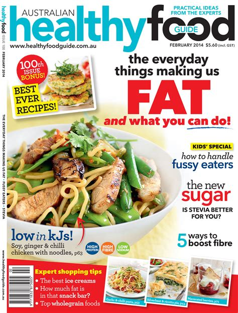 guide cuisine magazine celebrating the 100th issue of australian healthy food guide australian newsagency