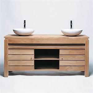 Meuble Salle De Bain En Solde : meuble salle de bain teck solde ~ Teatrodelosmanantiales.com Idées de Décoration