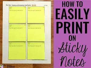 how to easily print on sticky notes mrs beattie39s classroom With how to print on post its