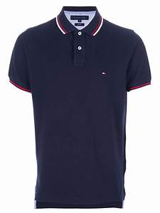 Tommy Hilfiger Contrast Trim Polo Shirt in Blue for Men | Lyst