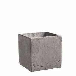 übertopf Groß Innen : quadratischer bertopf in betongrau online bestellen und ~ Michelbontemps.com Haus und Dekorationen