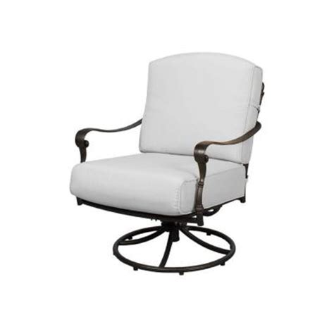 hton bay edington patio swivel rocker lounge chair with