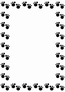 Dog Paw Border Clip Art | paw print | Pinterest | Dog paws ...